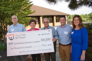 YS Class of '66 presents $10,500 check to YSEF.
